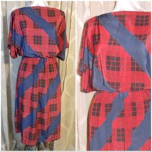 Vintage plaid ROTHSCHILD dress size L